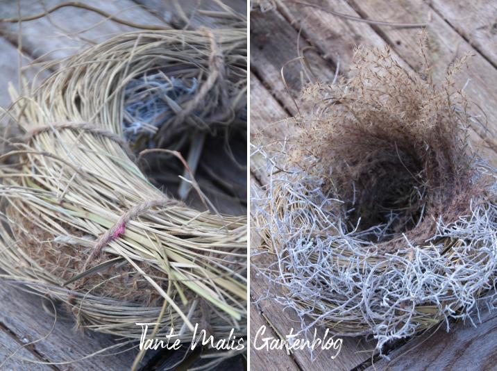 Anleitung für Nest aus Gras Deko