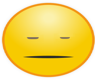 Emoticon WhatsApp Cuek Tanpa Eksresi