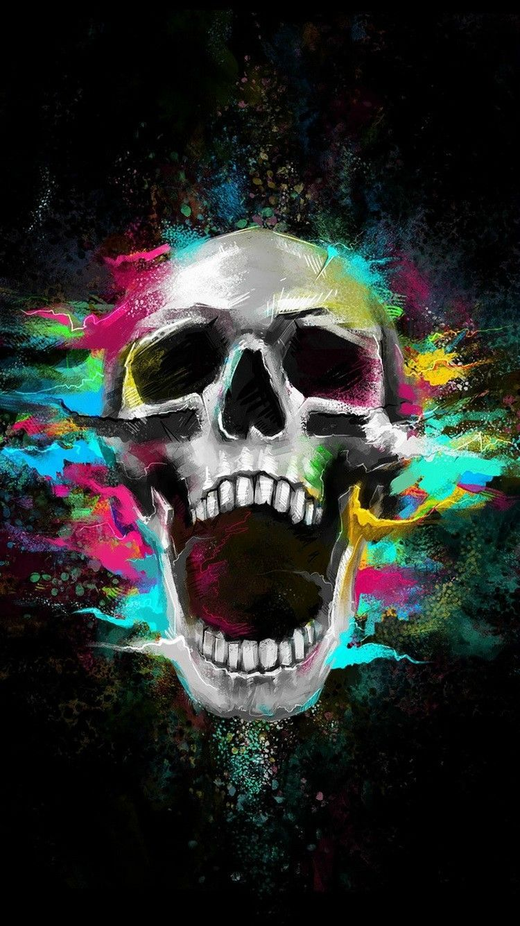 skull black wallpaper