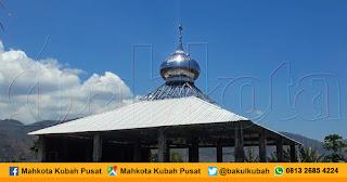 Pemasangan Kubah Masjid Stainless Woja - Dompu