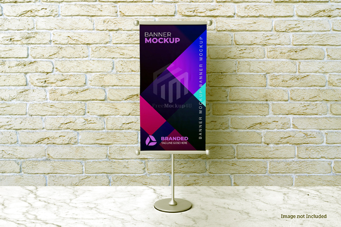 Stand Banner Free Psd Mockups Template