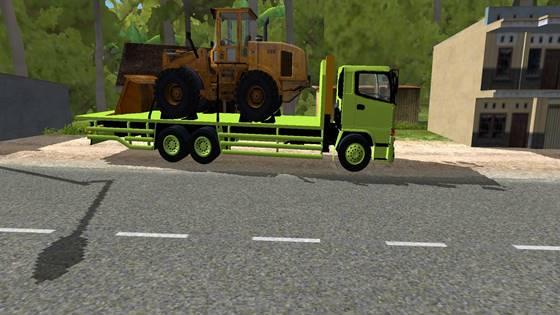 mod hino 500 muatan bulldozer