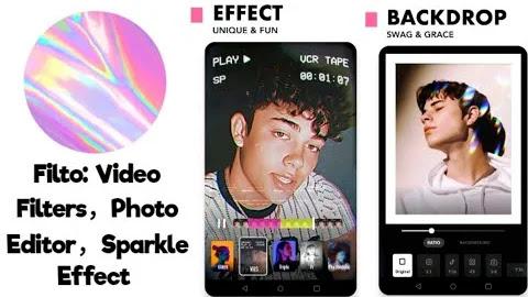 تنزيل Filto: Video Filters ، Photo Editor ، Sparkle Effect  تطبيق جذاب لتصفية الفيديو والصور لنظام الاندرويد