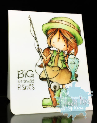 Tiddy Inks, Kecia Waters, Copic markers, fishing, Wryn