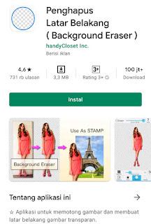 Cara menghapus background foto di handphone