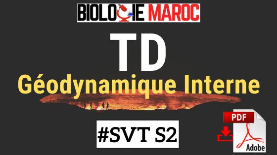 TD Exercices Corrigés de Géodynamique Interne SVTU Semestre 2 S2 PDF