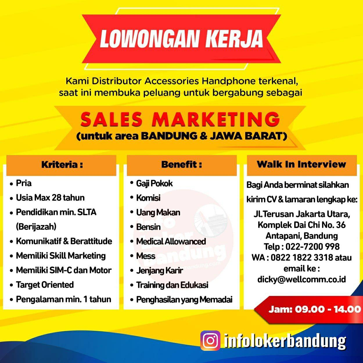 Lowongan Kerja CV. Bandung Indo Pratama (Wellcomm Gadget Accessories) Bandung Agustus 2019