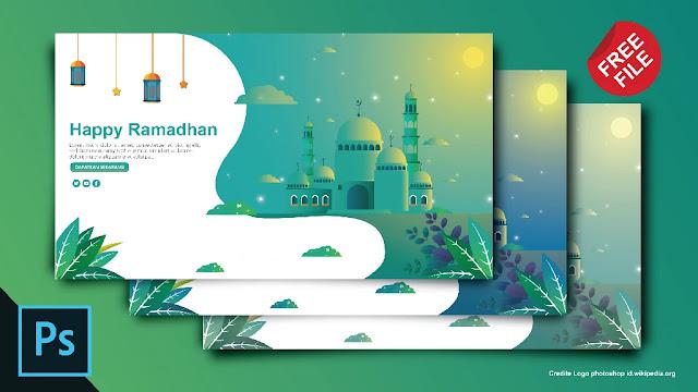 Free Ramadhan PSD : Download Kumpulan Desain Flat Ramadhan Adobe Photoshop