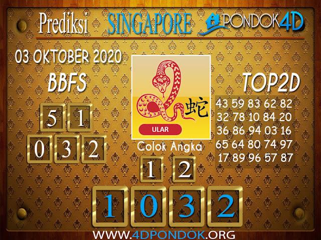 Prediksi Togel SINGAPORE PONDOK4D 03 OKTOBER 2020