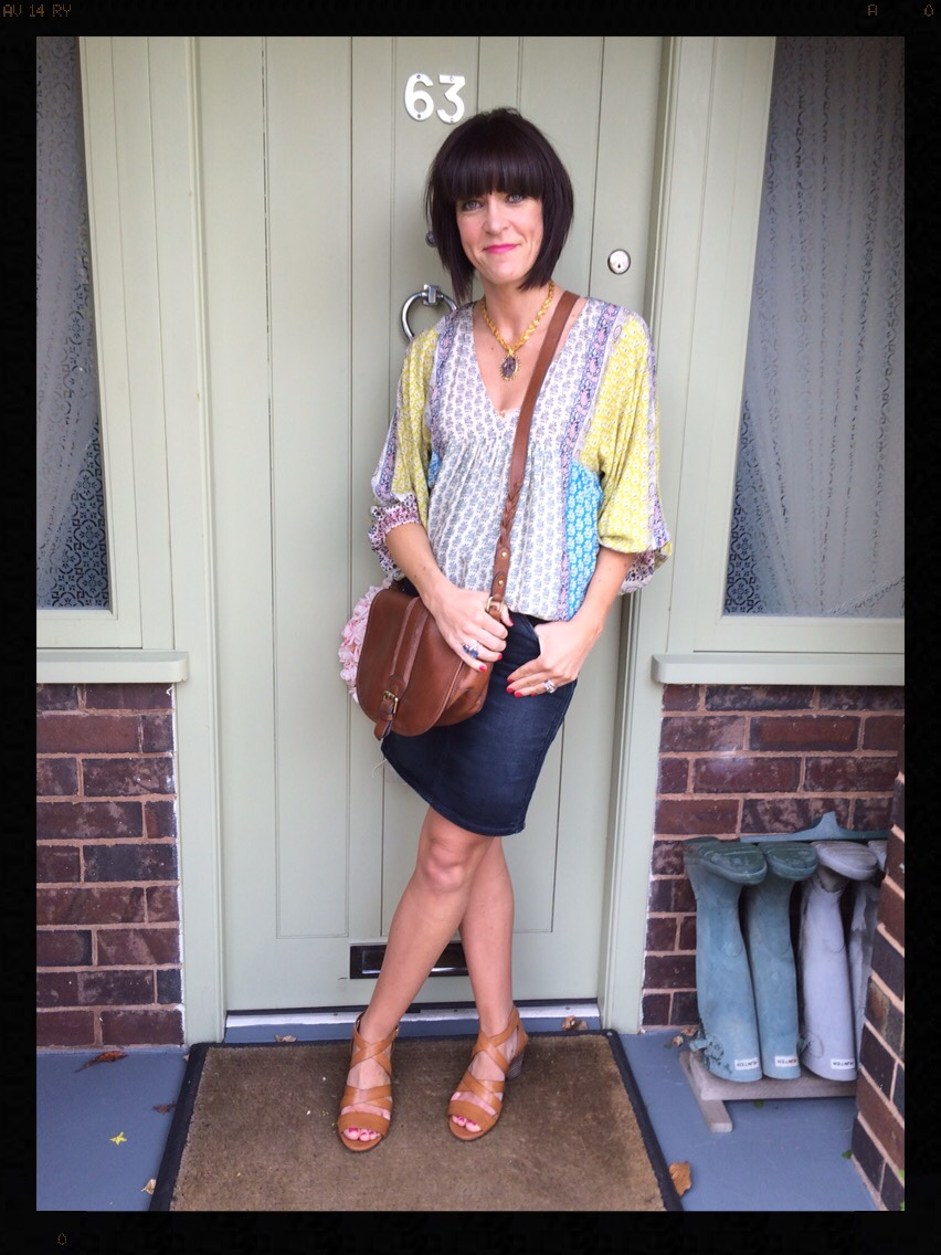 My Midlife Fashion, Clarks, Zara, Boho Top, saddle bag, Clarks Ranae Estelle