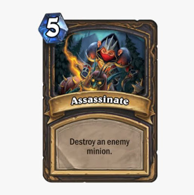 True or False: The Assassinate card can destroy a minion with Divine Shield.