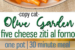 One Pot Olive Garden's Five Cheese Ziti Copy Cat