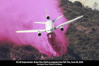 DC-10 Supertanker drops Flos-Chek to fight the Fish Fire, June 20, 2016, Los Angeles Times, Photo by Tim Berger
