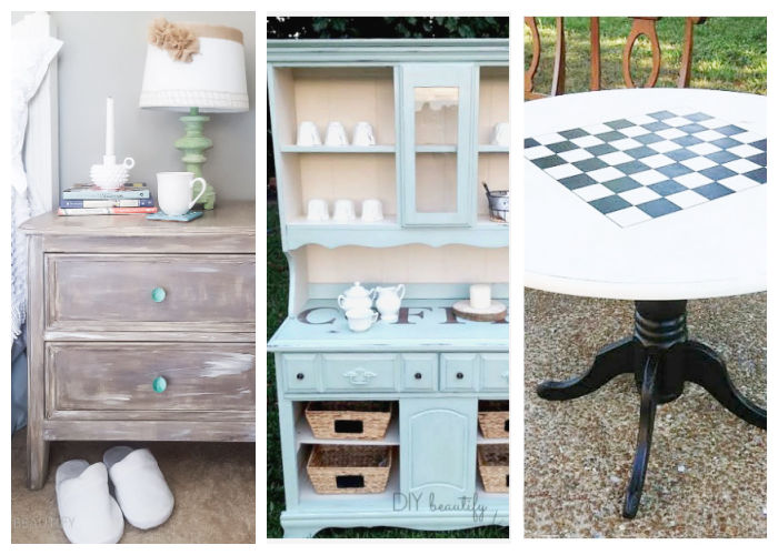 furniture painted with chalk paint and waxed