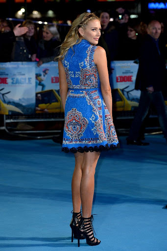 stephanie pratt leggy minidress at eddie the eagle premiere best red carpet dresses in londong england