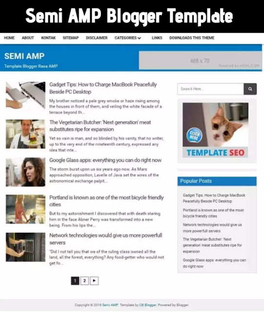 semi amp, semi amp blogger template, blogger template free download, amp blogger template, accelerated mobile pages, amp ready blogger template, best amp template for blogger, amp theme for blogger, best blogger template, teach bhawani singh blogger template