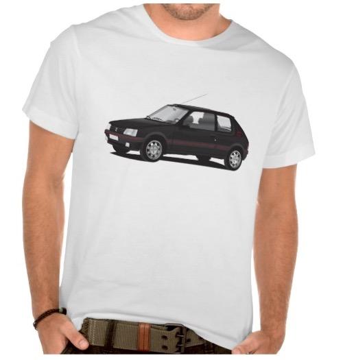 black peugeot 205 gti t-shirt