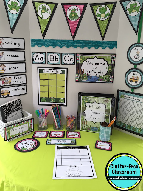 Classroom Decor Items ~ Frog themed classroom ideas printable