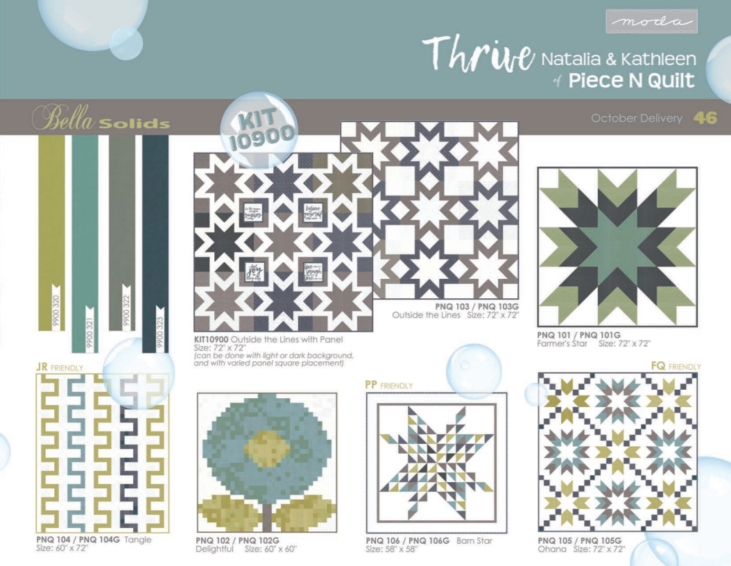Piece N Quilt: Introducing --Thrive Fabric - The Prints! : fabric lines for quilting - Adamdwight.com