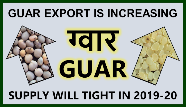 Guar Product Export has increased by 57.78 % in four years ,  Guar, guar gum, guar price, guar gum price, guar demand, guar gum demand, guar seed production, guar seed stock, guar seed consumption, guar gum cultivation, guar gum cultivation in india, Guar gum farming, guar gum export from india , guar seed export, guar gum export, guar gum farming, guar gum cultivation consultancy, today guar price, today guar gum price, ग्वार, ग्वार गम, ग्वार मांग, ग्वार गम निर्यात 2018-2019, ग्वार गम निर्यात -2019, ग्वार उत्पादन, ग्वार कीमत, ग्वार गम मांग, Guar Gum, Guar seed, guar , guar gum, guar gum export from india, guar gum export to USA, guar demand USA, guar future price, guar future demand, guar production 2019, guar gum demand 2019, guar, guar gum, cluster beans, guar gum powder, guar gum price, guar gum uses, ncdex guar, guar price, guar gum price today, cyamopsis tetragonoloba, ncdex guar gum price, guar beans, guar rate today