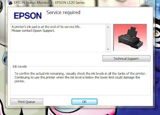 Mengatasi Printer L120 Service Required
