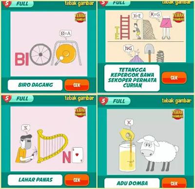 Jawaban tebak gambar level 18 nomor 9-12