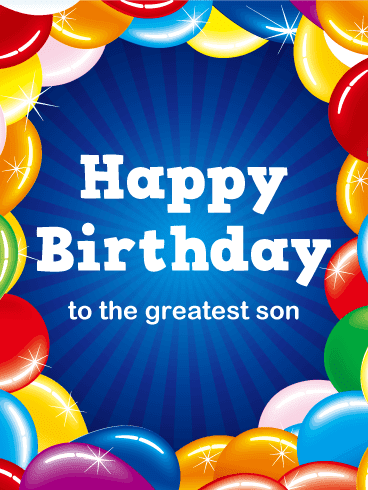 son birthday cards