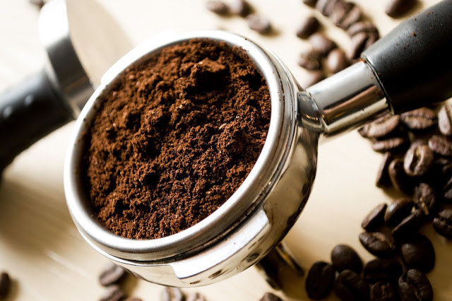 Homemade face scrub for glowing skin with coffee
