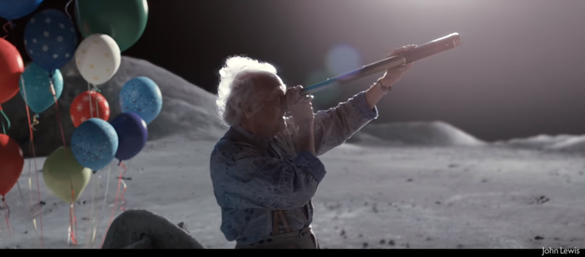 "John Lewis ""Man On The Moon"" Christmas Ad 2015,"