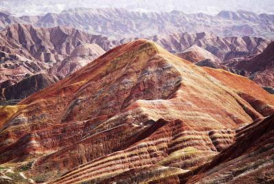 Montanhas coloridas de Danxia - China