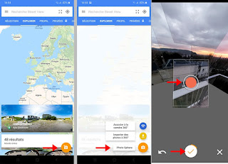 Application Google Street View photo 360