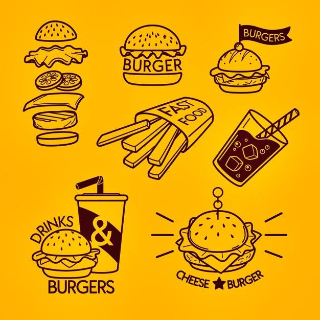 logo keren fast food kartun