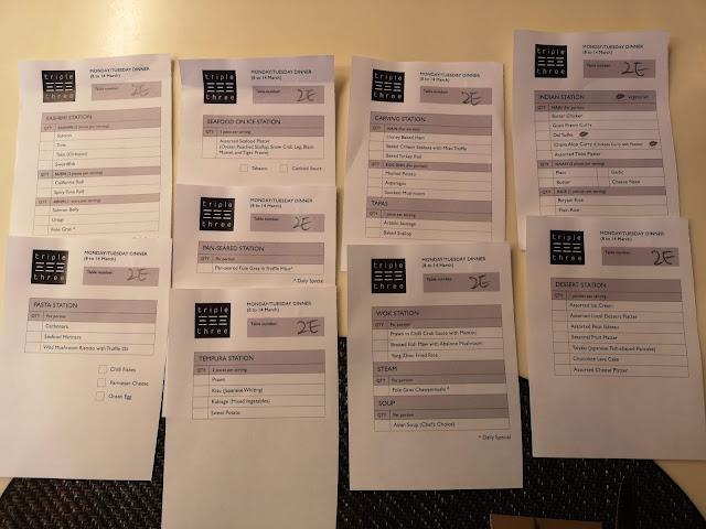 ala carte order list