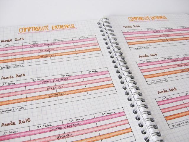 bullet journal comptabilité