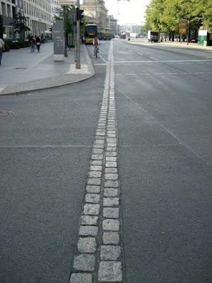 Recorrido del muro de Berlin