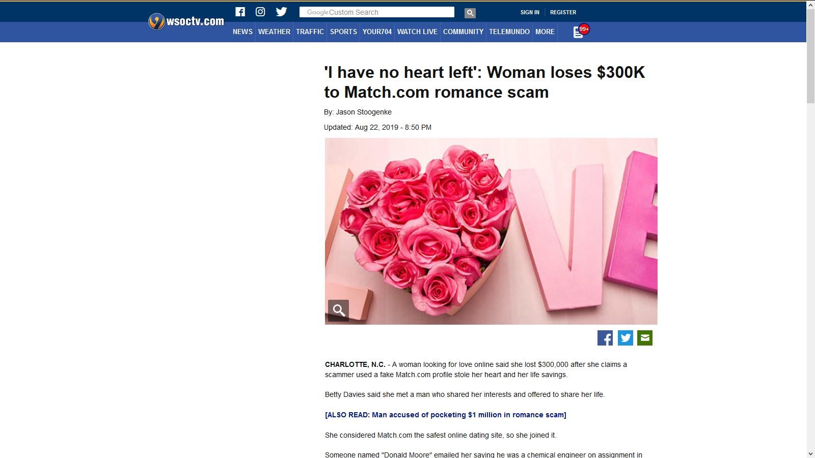 match.com online dating svindel