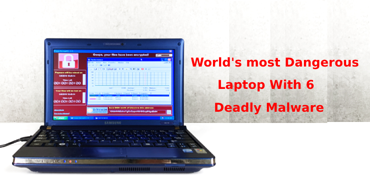 World's most Dangerous Laptop With 6 Popular Malware Sold at $1.3 million  - World 2527s 2Bmost 2BDangerous 2BLaptop - World's Dangerous Laptop With 6 Popular Malware Sold for $1.3 million