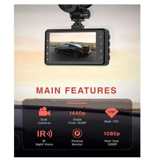 IIWEY N1 New Version Dual Dash Camera for Cars