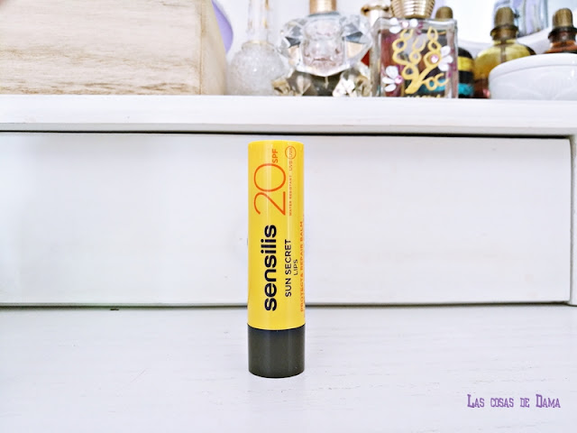 bálsamo labial SPF20 Sun Secret de Sensilis Guapabox septiembre beautybox cuidado solar belleza