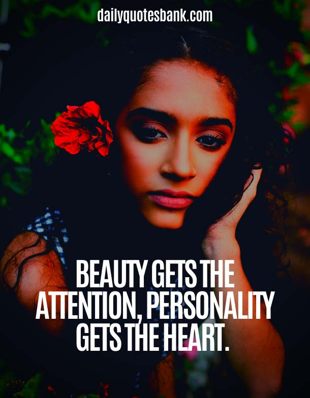 Personality Quotes About Beauty Of Girl and Woman