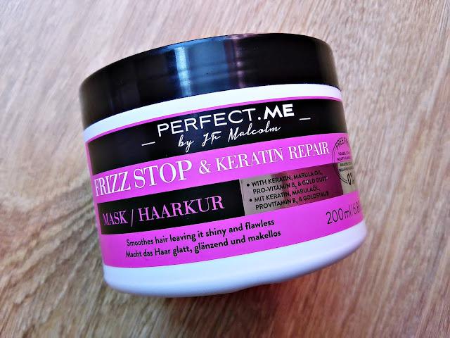 PERFECT.ME, Frizz Stop & Keratin Repair - Maska wygładzająca do włosów puszących się, opakowanie