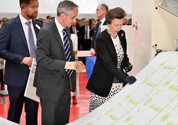 Princess officially opened the new site which will enable the production of Springbond, a new eco-engineered carpet