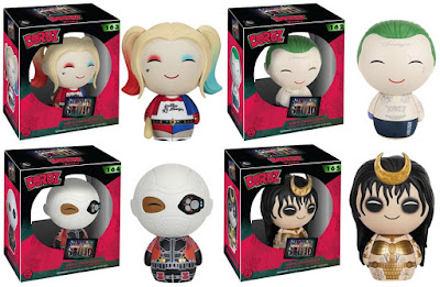 Suicide Squad Dorbz Series 1 Vinyl Figures by Funko - Harley Quinn, The Joker, Deadshot & Enchantress