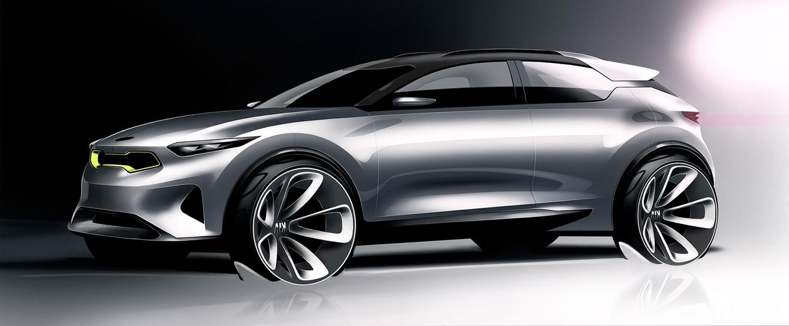 Kia Stonic sketch - option 1 styling side view