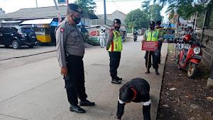 Ini Sanksi yang Diberikan Polisi Cileunyi Polresta Bandung Bagi Pelanggar Protkes