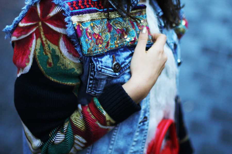 ärmel jeans jacke desigual myberlinfashion