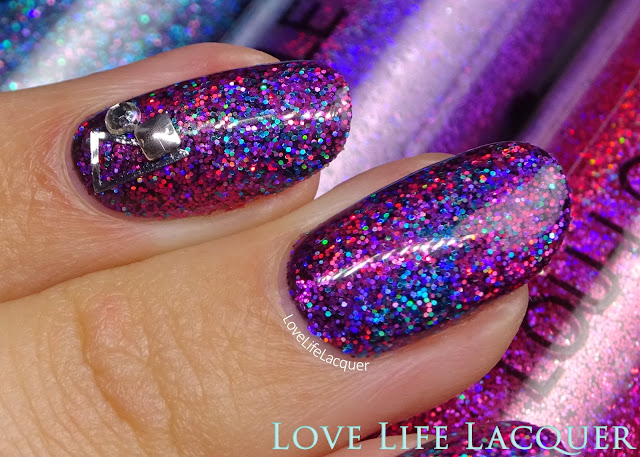 Magpie Glitter rockstar gel nails