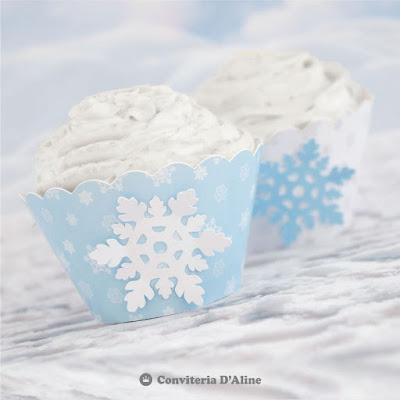frozen wrapper cupcake personalizado saia