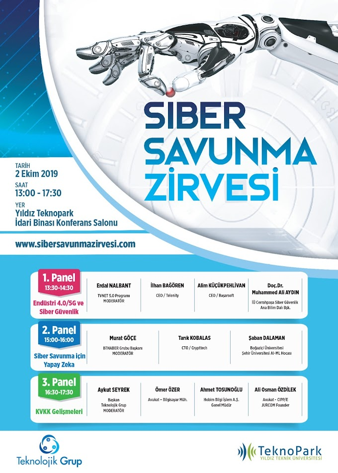 SİBER SAVUNMA ZİRVESİ 02 EKİM 2019 13:30-18:00