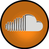 sound cloud glowing icon
